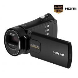 Kamera HD HMX-H300 czarna + Karta pamięci SDHC 16 GB + Kabel HDMi męski/mini męski pozłacany (1.5 m) + Etui MSEC-4K czarne...