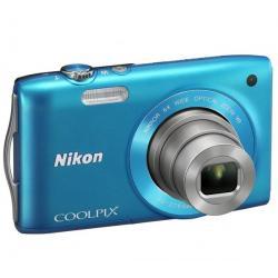 S3300 niebieski + Akumulator litowy  ENEL19 kompatybilny  z Nikon EN-EL19 + Karta pamięci SDHC 4 GB  + Etui Pix Ultra Compact 9,...