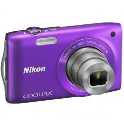 S3300 fioletowy + Akumulator litowy  ENEL19 kompatybilny  z Nikon EN-EL19 + Etui Pix Ultra Compact 9,5 x 2,7 x 6,5 cm + Karta pa...