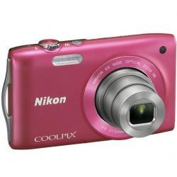 S3300 różowy + Akumulator litowy  ENEL19 kompatybilny  z Nikon EN-EL19 + Etui Pix Ultra Compact 9,5 x 2,7 x 6,5 cm + Karta pamię...