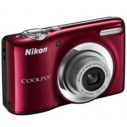 L25 czerwony + Ładowarka 8H LR6 (AA) + LR035 (AAA) V002 + 4 akumulatorki NiMH LR6 (AA) 2600 mAh + Etui Pix Ultra Compact 9,5 x 2...