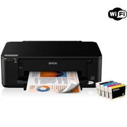 Sieciowa kolorowa drukarka atramentowa Stylus Office B42WD + WiFi + Ryza papieru Goodway - 80 g/m? - A4 - 500 sztuk + Kabel USB ...