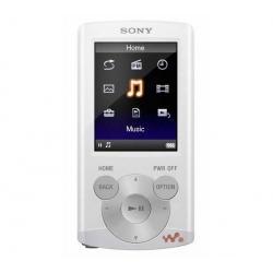 Odtwarzacz MP4 FM NWZ-E363 4 GB biały + Słuchawki douszne MDR-EX50LP czarne + Łącznik do gniazda jack 3.5 mm...
