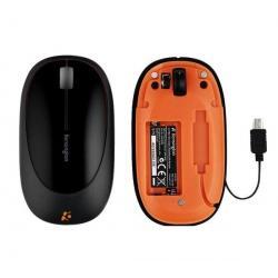 Mysz optyczna Ci75m - czarno-pomarańczowa  + Kabel USB A męski/A żeński 2 metry - MC922AMF-2M + Hub USB 4 porty BL-USB2HUB2B...