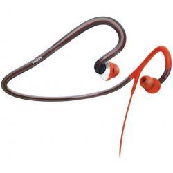 Słuchawki z pałąkiem na kark SHQ4000/10 pomarańczowe + Łącznik do gniazda jack 3.5 mm...