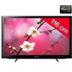 Telewizor LED KDL-46EX650 + Pozłacany 24-karatowy kabel HDMI-1,5 m - SWV3432S/10 + Stały uchwyt ścienny czarny + Listwa zakrywaj...