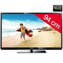 Telewizor LED 37PFL3507H/12 + Stały uchwyt ścienny czarny + Pozłacany 24-karatowy kabel HDMI-1,5 m - SWV3432S/10 + Listwa zakryw...