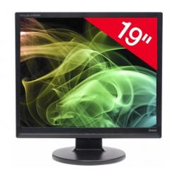 "Monitor TFT 19"" ProLite E1906S-1 - czarny (5 ms) + Kabel DVI męski do VGA męski - 3 metry- MC370-3M..."