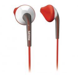 Mini-słuchawki SHQ1000/10 czerwone/białe + Łącznik do gniazda jack 3.5 mm...