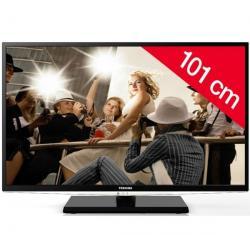 Telewizor LED 40HL933G + Pozłacany 24-karatowy kabel HDMI-1,5 m - SWV3432S/10 + Stały uchwyt ścienny czarny + Listwa zakrywająca...