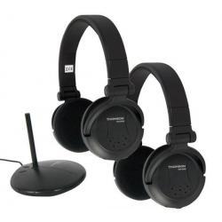 2 bezprzewodowe słuchawki WHP3569D + Kabel 2 RCA Jack stereo meski/meski - 5 m...