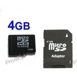 Karta 4GB MICRO SDHC 4 GB + ADAPTER SD hurt - x100