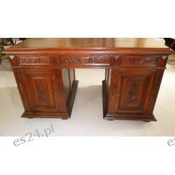Stare biurko eklektyczne XIXw. dąb