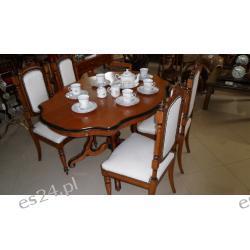 Komplet stół + 4 krzesła orzech