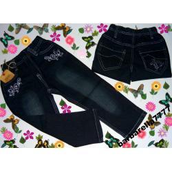 *PROMOCJA*spodnie jeans hafty 92-98(2-3L)