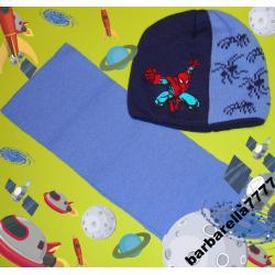 SPIDERMAN  czapka+szalik 54-56(3-5L)