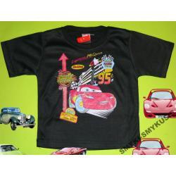 CARS AUTA koszulka dla Chłopca 92CM(2l)CZARNY