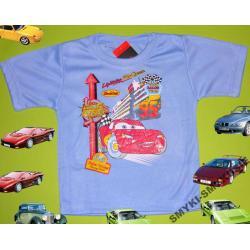 CARS AUTA koszulka dla Chłopca 92CM(2l)NIEBIESKI