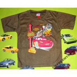 CARS AUTA koszulka dla Chłopca 110CM(5l)KHAKI