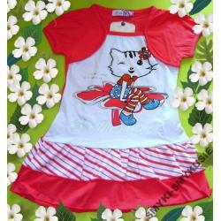 'KITTY'Sukienka z falbankami na WIOSNĘ116-122(8)