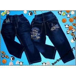 B&M Spodnie bojówki jeans ociepl polar92(2L)