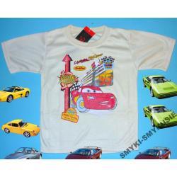 CARS AUTA koszulka dla Chłopca 104CM(4l)ECRU
