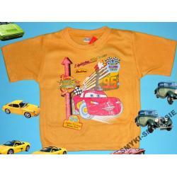 CARS AUTA koszulka dla Chłopca 86CM(18M)ZOŁTY