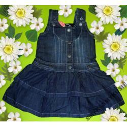 Śliczna sukienka z falbankami 86cm(2)NOWOŚĆ 2012