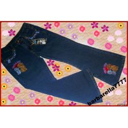 *PROMOCJA*spodnie jeans hafty 116(6-7L)