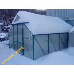 Szklarnia ZIELONA  pow:9,60 m2    alum.-pc
