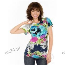 Bluzka ciążowa - Lamia - druk kwiaty