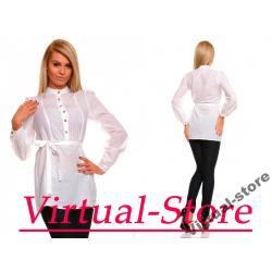 Virtual-Store Koszula Tunika Cristal  biały M