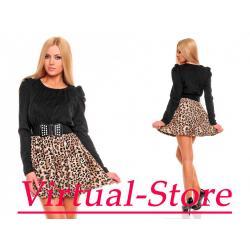Sukienka Redial czarno-beżowy M/L HIT ! ! !