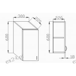 Szafka Wisząca Drzwi PW 400x320x600mm