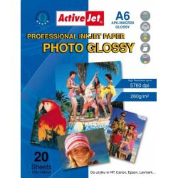 ActiveJet PAPIER FOTO AP6-260GR A6 20 SZT.