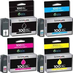 4x LEXMARK 100 Pro205 Pro705 Pro805 Pro901 PRO905