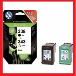 HP 338 + HP 343 DESKJET 460c 6540 6543 6548 6620