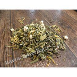 Sencha Miodowo Imbirowa-zielona z dodatkami Kawy ziarniste