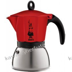 BIALETTI MOKA INDUCTION RED kawiarka aluminiowa 6/300ml Kawiarki