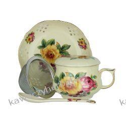 Kubek porcelanowy z zap.łyżeczka talerzyk Yerba mate