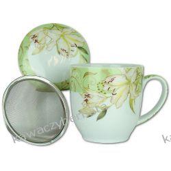 Kubek porcelanowy z zap.metalowym Zaparzacze i kawiarki