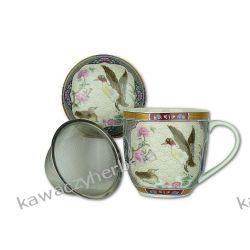 Kubek porcelanowy z zap.metalowym Kawy ziarniste