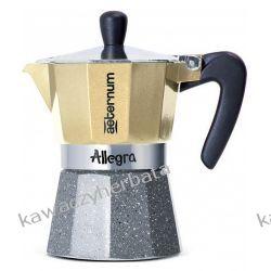 BIALETTI ALLEGRA PLATINO kawiarka aluminiowa 6/300ml Dom i Ogród