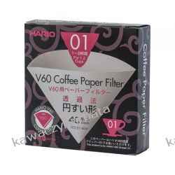 Hario filtry papierowe do dripa V60-01 Wyposażenie