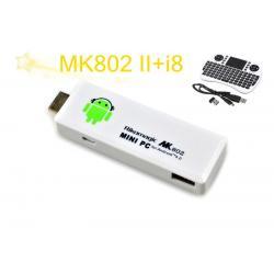 Rikomagic MK802 II Mini Android 4.0 PC Android TV Box A10 Cortex A8 1GB RAM 4G ROM HDMI TF Card [MK802-2]