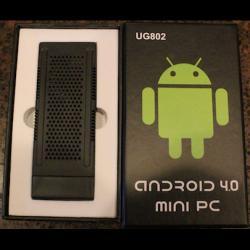 Mini PC Android UG802 Dual Core Cortex A9 1GB RAM 4GB ROM HDMI, USB, TF Card stot