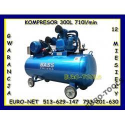 KOMPRESOR 300L 3 TŁOKI SPRĘŻARKA 710l/min + GRATIS