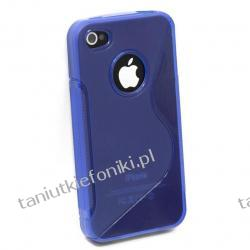 Etui Rubber na iPhone 4/4S - niebieskie