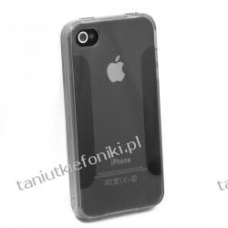 Etui silikonowe Transparent do iPhone 4/4S - czarne