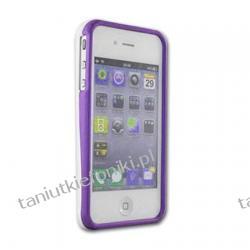 Futerał Case do iPhone 4/4S - biało-fioletowy